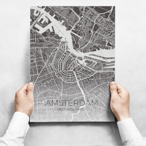 Obraz - Map Of Amsterdam