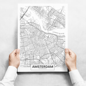 Obrazy - Map Of Amsterdam