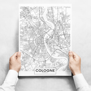 Obrazy - Map Of Cologne